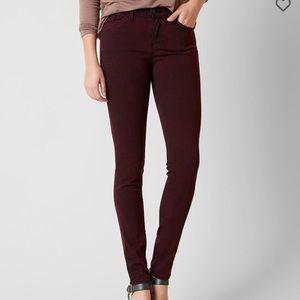 KanCan Mid-Rise Maroon Skinny Jean
